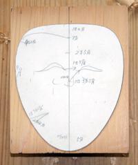 輪郭の型紙